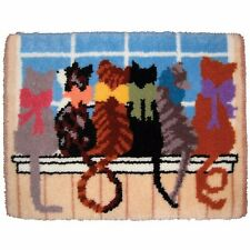 CAT TAILS OF LOVE LATCH HOOK RUG KIT from UK Seller, BRAND NEW