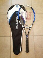 "Wilson K Pro.Six (K)Factor Black Tennis Racquet 4 1/2"" Grip with Bag. New grip."