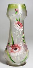 Palda - Hosch  Hand Painted Vase - Enameled Flowers