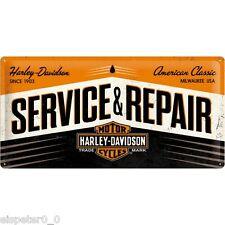 Blechschild 25 x 50, HD Service & Repair, Werbeschild Art. 27002