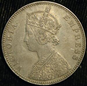 India Rupee 1885 B Bombay Victoria .917 Silver (T3)