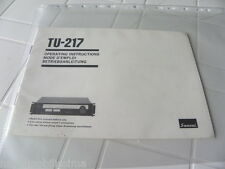 Sansui TU-217 Owner's Manual  Operating Instructions Istruzioni New
