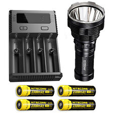 Acebeam K70 Flashlight XHP35 HI LED -2600Lm w/I4 Charger & 4x NL183 Batteries