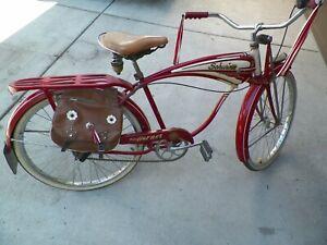 Vintage 1957 Schwinn Hornet Bicycle ~ original paint and decals 7 speed cruiser