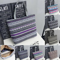 Canvas Women Summer Shoulder Bag Handbag Hobo Canvas Shopping Tote Zipper Large