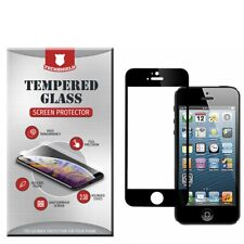 For Apple iPhone 5 5S SE Full Edge Tempered Glass Screen Protector Cover