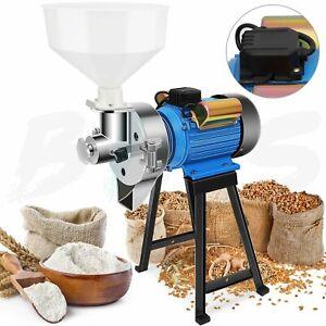 2200W Electric Grinder Dry Feed/Flour Mill Cereals Grain Corn Heavy Duty 220V