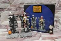 Jack Skellington Sally Resin Bookends Nightmare Before Christmas 2004 Book Shelf