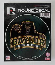 "Baylor University Black Bears Round Decal Car Window Sticker 4.5"" College Dorm"