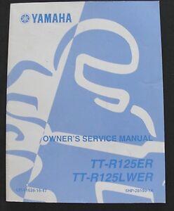 2001 2002 2003 YAMAHA 125 TT-125ER TT-R125LWER MOTORCYCLE OWNER'S SERVICE MANUAL