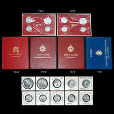VATICAN CITY VINTAGE COIN COLLECTION 1952 THROUGH 1991 INCLUDES SILVER ISSUES