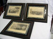 Lot of 3 A.C. Warren 1882 City Prints Framed St. Louis, Providence, & Cincinnati