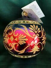 Christopher Radko 2003 Ornament - Rainbow Brocade (Red/Purple)