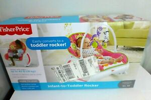 Fisher-Price Infant-to-Toddler Vibrating Rocker Seat - Floral Confetti NEW