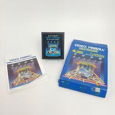 Video Pinball (Atari 2600, 1981) CX2648 Game, Box w/ Manual Tested and Working