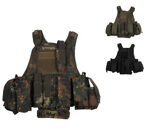 NEU US Weste Ranger mit Trinksystem Bundeswehr Einsatzweste BW Schutzweste