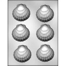 "Clam Shell Big 3"" Chocolate Mold Ocean Luau Mermaid Sea"