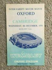 Oxford v Cambridge Inter Varsity Soccer Football Match 4th December 1974