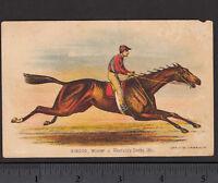 Kentucky Derby 1881 Winner Hindoo Horse Race Currier & Ives Victorian Trade Card