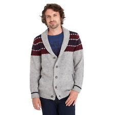 Men's Striped V Neck Button-Front Jumpers & Cardigans