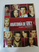 ANATOMIA DE GREY CUARTA TEMPORADA 4 AMPLIADA 5 X DVD + EXTRAS Español Ingles AM