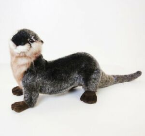 """Hansa River Otter Plush Toy 12"""" Long without tail"""