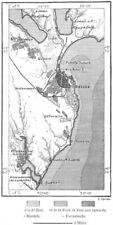 UKRAINE. Odessa, sketch map c1885 old antique vintage plan chart