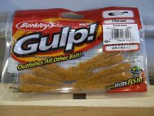 "Berkley Gulp 3"" Leech pumpkinseed 12 count package NIP"