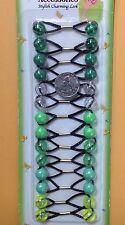 clear green ELASTIC PONYTAIL HOLDER JUMBO BEADS GIRL HAIR SCRUNCHIE KNOCKER BALL