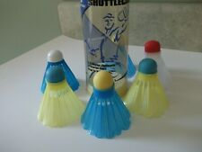 6  Vtg Shuttlecocks~colorful and clean~ SPORTCRAFT EARLY~ NICE!