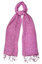 Raspberry Pink Silk & Cotton Speckled Scarf - Fair Trade BNWT 180cm x 80cm