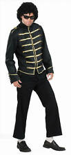 Pop King Star Michael Jackson Black Military Fancy Dress Halloween Adult Costume