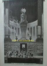 PUBLICITE de 1919 PARFUM AMBRE DE NUBIE RAMSES EGYPTE TEMPLE EGYPTIEN AD ADVERT