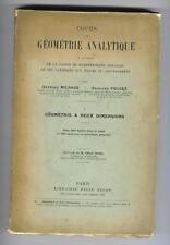 MILHAUD POUGET COURS DE GEOMETRIE ANALYTIQUE 1914 MATHS