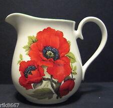 Bailey's Poppy English Fine Bone China 1 Pint Milk Jug By Milton China