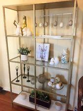 Glass shelf display unit/bookshelf