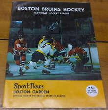 Boston Bruins vs Minnesota North Stars Hockey 1973 Program J69027