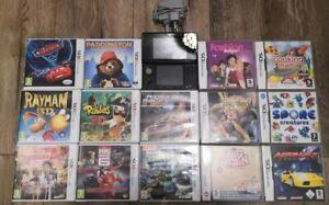 Nintendo 3ds Black Console Bundle, 14 Games & Mains Changer