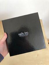 Nails Inc. Professional London Black Nail Polish Varnish Box Fits 10 20x20cm