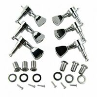 Chrome Guitar Parts Tuning Pegs Keys Tuners Machine Heads Electric Acoustic 3R3L