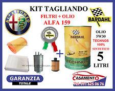 KIT TAGLIANDO FILTRI + OLIO BARDAHL ALFA 159 1.9 JTDM 16V 110KW 150CV 2005-