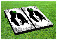 VINYL WRAPS Cornhole Boards DECALS Big Day Wedding Bag Toss Game Stickers 586
