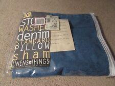 Linens N Things Stone Washed Denim Standard Pillow Sham