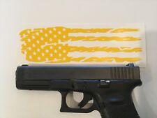 Tattered American Flag Handgun Slide Stencil for Duracoat, Cerakote, Krylon!