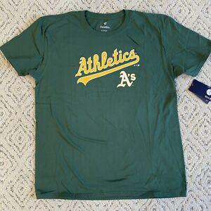 Men's Oakland Athletics MLB Baseball Green Shirt Size XL NWT Fantics