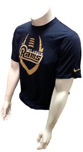 Nike Dri Fit Men's St. Louis Rams Football Navy Short Sleeve Shirt NFL T-Shirt