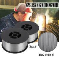 "2Pack 0.04""   1.0mm 2lb Rolls Gasless Flux-Core MIG Welding Wire E71T-GS/11# 1KG"