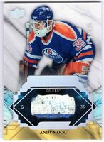 ANDY MOOG 2019-20 UD Engrained REMNANTS Stick #075/100 Oilers