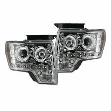 RECON 264190CLCC Ford F150 - Raptor 09-14 Clear-Chrome Headlights Projector