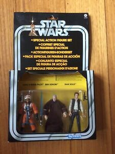 Star Wars Vintage Collection Special Action Figure Set Han Solo Luke X-Wing Ben